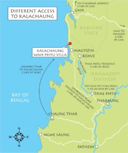 Wah Pyu Villa access map